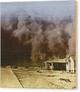 Dust Storm, 1930s Wood Print