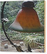 Dusty Old Lamp In Morning Light Wood Print