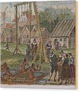 Dutch & Native American Trade Wood Print
