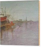 Dutch Dock Wood Print