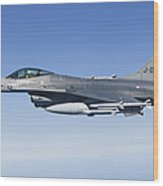 Dutch F-16am During A Combat Air Patrol Wood Print