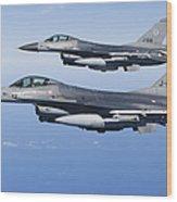 Dutch F-16ams During A Combat Air Wood Print