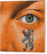 Dutch Lion - Coat Of Arms Wood Print