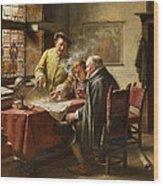 Dutch Merchants Wood Print
