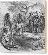 Dutch-native American Fur Trade Wood Print