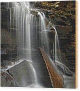 Dutchman Falls Wood Print