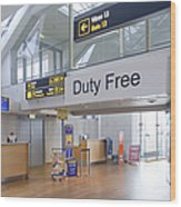 Duty Free Shop At An Airport Wood Print by Jaak Nilson