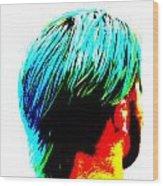 Dyed Hair Man Wood Print