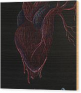 Dying Heart Wood Print