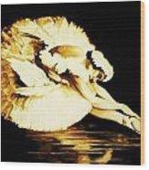 Dying Swan Wood Print