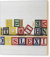 Dyslexia Wood Print by Photo Researchers, Inc.