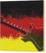 E-guitar - German Rock II Wood Print