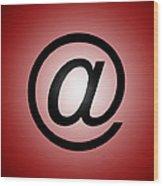 E-mail Symbol Wood Print