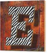 E Wood Print