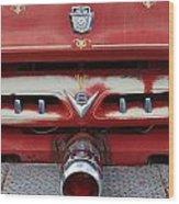 E Town Fire Truck Wood Print
