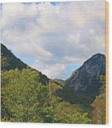 Eagle Cliff Seen Froom Boise Rock In Franconia Notch Wood Print
