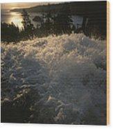 Eagle Falls Plunges Toward Lake Tahoe Wood Print