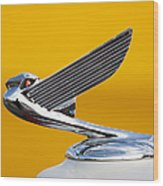 Eagle Hood Ornament Wood Print