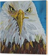 Eagle Wood Print by Ismeta Gruenwald