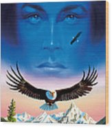 Eagle Mountain Wood Print