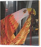 Eagle On The Ship Wood Print