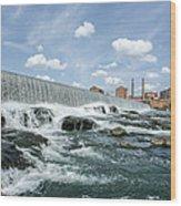 Eagle-phenix Dam Wood Print