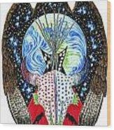 Eagle Tipi Wood Print