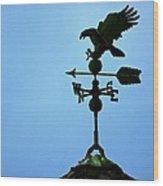 Eagle Weathervane Wood Print