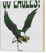 Eagles Vs Dallas Wood Print