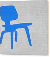 Eames Blue Chair Wood Print by Naxart Studio