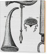 Ear Trumpets Wood Print