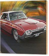 Early 60s Red Thunderbird Wood Print