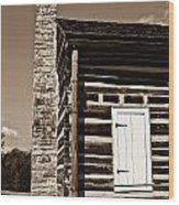 Early American House Wood Print by Douglas Barnett