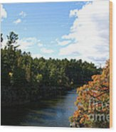 Early Autumn Colors Wood Print