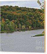 Early Autumn Shoreline Wood Print