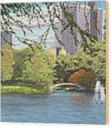Early Color On Esplanade Wood Print