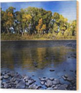 Early Fall At The Headwaters Of The Rio Grande Wood Print by Ellen Heaverlo