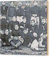 Early Football  Wood Print