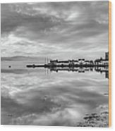 Early Morning At Inverary Black And White Version Wood Print