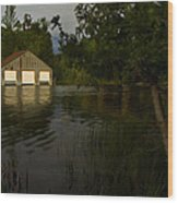 Early Morning Clam Lake Channel Wood Print