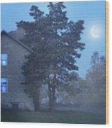 Early Morning Farmhouse Wood Print