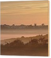 Early Morning Mist, Bradworthy, North Wood Print