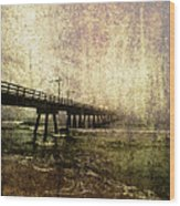 Early Morning Pier Wood Print by Skip Nall