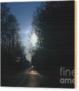 Early Morning Rural Road Wood Print by Susan Stevenson