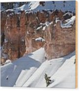 Early Morning Snow In Bryce Canyon Wood Print