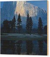 Early Morning View Of El Capitan Wood Print