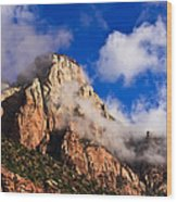 Early Morning Zion National Park Wood Print