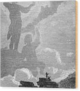 Early Sighting Of Brocken Spectres, 1797 Wood Print by