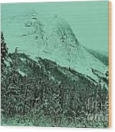Early Snow In The Mountains  Wood Print