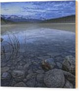 Early Summer Morning On Patricia Lake Wood Print